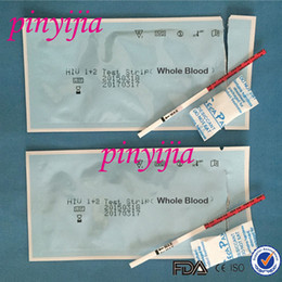 Wholesale By DHL CE Aprroved Anti HIV Test Strip Whole Blood For Personal Home Use HIV Antibody Test