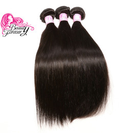Beauty Forever Brazilian Straight Hair Weave Bundles Cheap Human Hair Extensions Unprocessed Remy Human Hair Natural Color Weave 1-5 Bundle