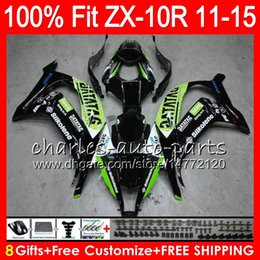 8Gifts 23Colors Injection For KAWASAKI NINJA ZX 10R ZX10R 11 12 13 14 15 Green black 50HM15 ZX-10R ZX10 R 2011 2012 2013 2014 2015 Fairing