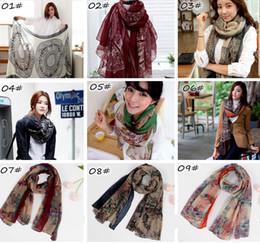Wholesale new cm Autumn Xmas Deer Moose vintage Voile silk scarves women casual gorgeous print scarf shawl wrap Color Choose