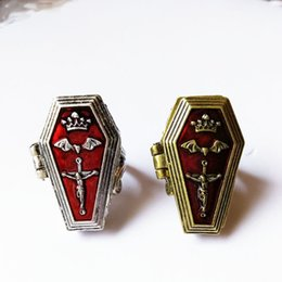Europe and the British Gothic Punk steam accessories cross bat coffin retro ring and Jesus haemorrhage