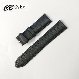 Cbcyber New Watch Accessories Belt Soft Genuine Leather Watch Band Strap 18 20 22 24 mm Watchbands for r watch 0371