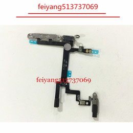 10pcs 100% working Power Button On Off Button Flex Cable With Metal Plate For iPhone 5
