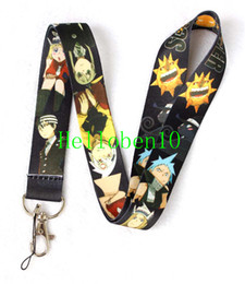 New Free shipping - 30pcs lot Cartoon Anime SOUL EATER Lanyards ID Badge Holder Mobile Phone Straps
