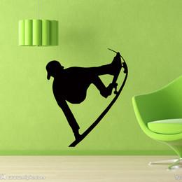 Personality Wall Vinyl Decals Skateboard Skater Sports Decal Sticker Bedroom Living Room Art Mural Creative Decor DIY