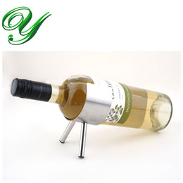 Compra Online Bastidores de almacenamiento de vino-Soporte de botella de cerveza de acero inoxidable Soporte de almacenamiento de estantería de botella de cerveza Soporte de champán de plata moderno Soportes de barra de barra de vino Caja de regalo