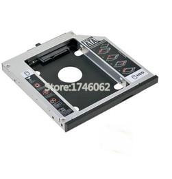 Una caja portadiscos disco en Línea-Venta al por mayor- para Lenovo IdeaPad Z50 Series Z50-70 Z5070 Cuaderno segundo HDD SSD Caddy segundo disco duro Drive Enclosure Case Adapter Replacement