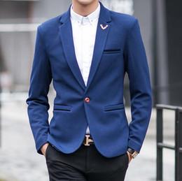 Hombres Traje Chaquetas Blazers Vestido Trajes Hombres Casual Moda Único Botón Estilo Casual Slim Hombre Chaquetas costumbre desde traje formal de un solo botón delgado fabricantes