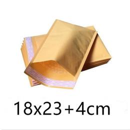Kraft enveloppe jaune en Ligne-Livraison gratuite Jaune Kraft Bulle Mailers Padded Enveloppes Sacs 18cm X 23cm + 4cm Emballage de haute qualité Emballage
