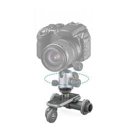 2017 dslr deslizador PPL-06 Motorizado eléctrica de 3 ruedas de la polea de coches Dolly Rolling deslizante de patinaje para el cañón Nikon Sony DSLR Camcorder descuento dslr deslizador