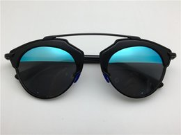 Wholesale new fashion round sunglasses women brand deisnger double color lens summer style coating mirror lens so real sunglasses with original case
