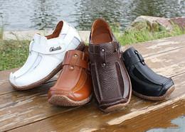 Hombres s zapatos para bodas en Línea-2017 Niños de cuero auténtico Hombres y mujeres más terciopelo Niños Zapatos formales para bodas Zapatos formales Niños