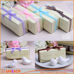 2PCS SET 4 color wedding favors and gift Love Birds Salt and Pepper Shaker Party favors free shipping