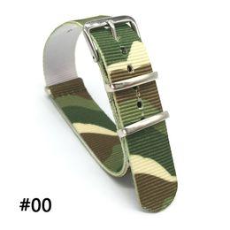 18 20 22 24 mm NATO color print uniforms nato fabric camouflage nylon strap accessories belt buckle 007 James Bond watch belt
