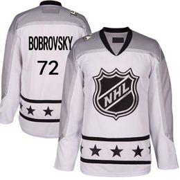 Wholesale Men s S XL Metropolitan Division White Sergei Bobrovsky All Star Premier Columbus Blue Jackets Custom Hockey Jerseys