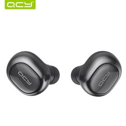 Wholesale QCY Q29 English Business Bluetooth Earphones Mini Wireless Stereo Headsets with Charging BOX for iphone Free DHL