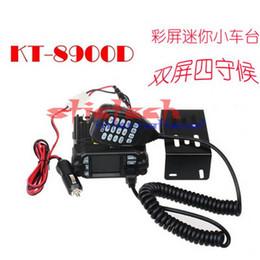 Promotion quad lcd Par dhl ou ems 5pcs KT-8900D 25W Véhicule monté à deux voies Radio Upgrade KT-8900 Mini radio mobile avec quadri-bande Large LCD