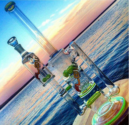 Big Bong with Ash Catcher Green Beaker Bong Unique Bongs with Sprinkle Perc and Inline Tall Flow Recycler Bong Free Shipping