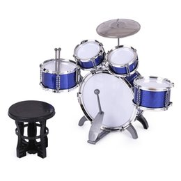 Wholesale Children Kids Drum Set Musical Instrument Toy Drums with Small Cymbal Stool Drum Sticks for Boys Girls