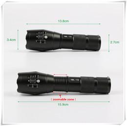 2017 les types d'incendie XML-T6 Ultra Fire Led Lampe de poche High Brightness Zoomable imperméable couleur noire Corps Torche 18650 Type de batterie avec numéro de suivi les types d'incendie à vendre