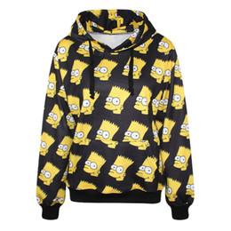 Wholesale 2017 New men cartoon Big belly print bart simpson d Hoodies beautiful Pullovers sexy sweats hip hop Galaxy sweatshirts