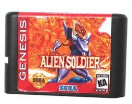 Wholesale MD Game card Games Cartridge Alien Soldier USA Label For bit Sega MegaDrive Genesis Sega Game console
