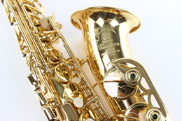 Wholesale YAS Alto Saxophone E Flat Instrument Gold Plated Lacquer Plating Brass Engraved Alto Sax Musical Instrument