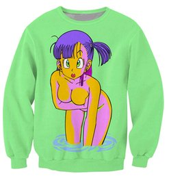 Wholesale New Arrivals Bulma Sweatshirt vibrant jumper animated show Dragon Ball Z Characters Cartoon Sweats Women Men Outfits plus size