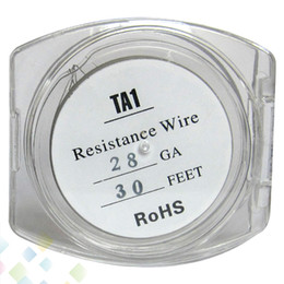Titanium Wire Temperature Control TA1 Wire 24G 26G 28G Resistance 30 Feet Spool Heating Wire DHL Free