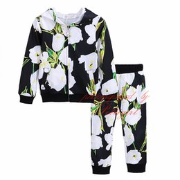 Wholesale Pettigirl Newest Girls Clothing Set Casual Daily Outfit Flower Printing Coat And Top Fashion Baby Girls Clothing G DMCS908