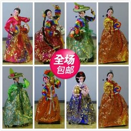 1 shipping Korea doll ornaments Korean silk decorative crafts gifts Home Furnishing Korean cuisine