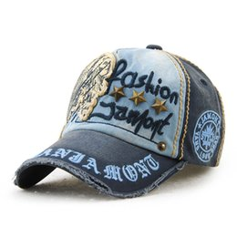 brand cotton fashion embroidery antique style Baseball Cap casquette snapback hat for men women