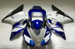 Venta caliente de la motocicleta en venta-Nuevos kits de calidad superior del carenado del ABS de la motocicleta el 100% cabido para YAMAHA 1998 1999 YZF-R1 98 99 YZFR1 98 99 YZF R1 YZF1000 venta caliente blanco negro azul