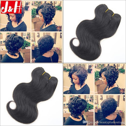 6Pcs lot 300g 8A Brazilian Virgin Hair Extensions Body Wave Unprocessed Remy Hair Weaves 2016 Trendy Bob Short Hairstyle for African Women