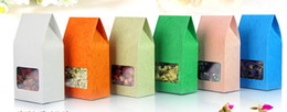 embossing kraft paper bag box rice corn tea tea cookie candy with transparent square window gift packing bag 8*15.5cm free shipping 50pcs
