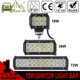 Wholesale XuanBa Mini quot inch Cree W Led Light Bar For Motorcycle x4 Offroad W Work Lamp Truck WD SUV ATV Auto DRL V W Off road Bar Light