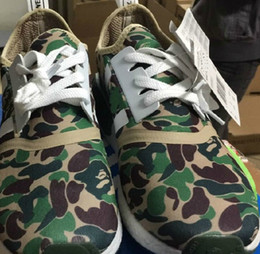 Wholesale Size NMD XR1 New NMD XR1 BATHING BA7325 BA7326 Green Black Purple CAMO NMD_XR1 Camo NMD Men Running Shoes Box Keychain