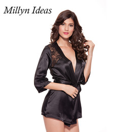T412 female hot selling sleepwear 4 colors plus size sexy lingerie nightgown robe lingerie nightgown night dress S XXXL