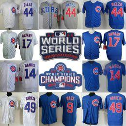 Wholesale 2016 World Series Champions Chicago Cubs jersey Anthony Rizzo Jake Arrieta Ernie Banks Javier Baez Kris Bryant baseball jersey shirt