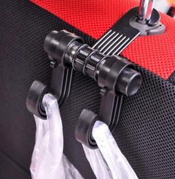 Wholesale Car Hook Seat Back Hanger Rack Pothook pour sacs Aliments pour déchets Car hug Auto Bag Organizer Holder KKA1444
