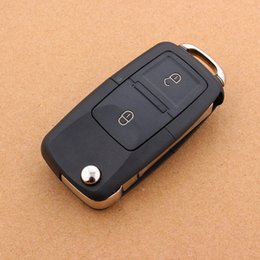 2 Buttons Remote Flip Folding Car Key Shell for VW Volkswagen MK4 Bora Golf 4 5 6 Passat Polo Bora Touran