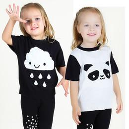 Summer T-Shirt for Children 2017 Kid Apparel Baby Panda Cloud Pattern Thin Cotton knitting t shirt Boys Girls Top Tees Outwear