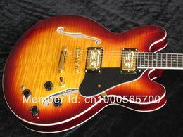 Wholesale G USA custom th Anniversary ES TD Guitar electric guitar with burl top