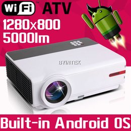 Wholesale Online Watch Newest Movie Film Home Theater Play Game Smart P TV Video HDMI USB LCD fuLL HD LED Android Wifi Projector