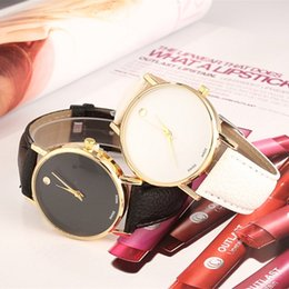 Single dot quartz watch fashion lovers belt contracted leisure men and women watch