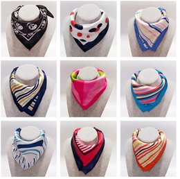 Wholesale Square Scarves Wholesales - 2016 Fashion Brand Professional Small Silk scarves For Women,50*50cm Ladies's Polyester Satin Square Scarf Printed Red Striped