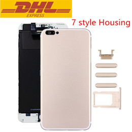 Wholesale New Arrival Iphone Style Housing For Iphone Plus Like Iphone7 Jet Black Middle Frame Battery Door Case DHL Freeshipping