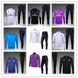 Wholesale Real Madrid tracksuits RONALDO JAMES BALE RAMOS MODERIC best quality long sleeve tracksuit training real madrid jacket kit