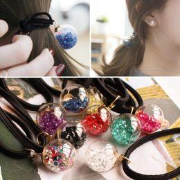 Color glass ball rubber ball ring FS00119 cute girl