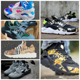 Wholesale 2017 New Air Huarache ID Running Shoes Camouflage Huaraches Men And Women Sneakers Run Tech Fleece Huraches Sports Shoes Size
